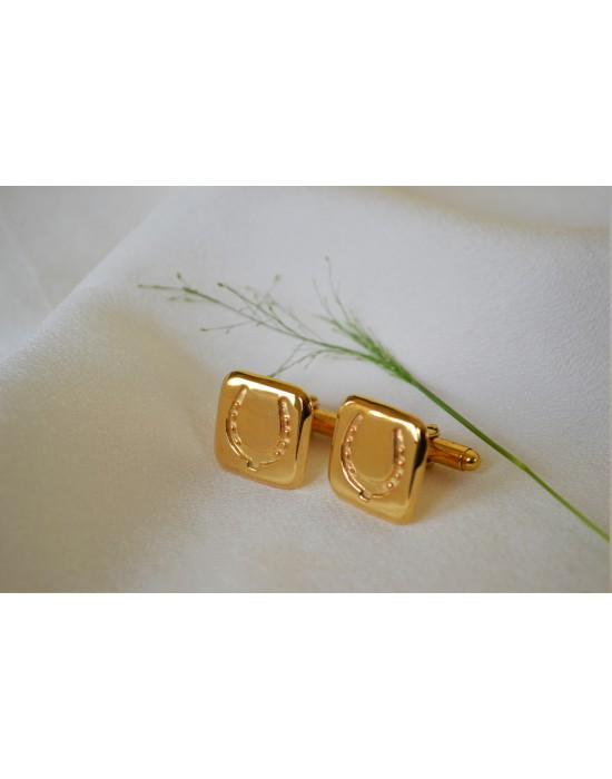 Gold Horse Shoe Cufflinks