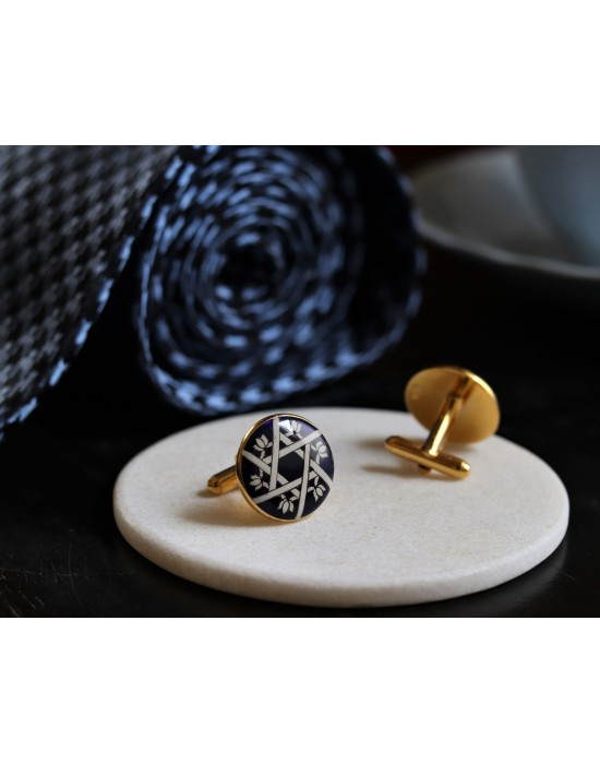 Blue Enamelled Cufflinks
