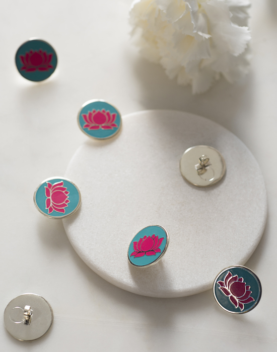 Lotus Buttons set of 5